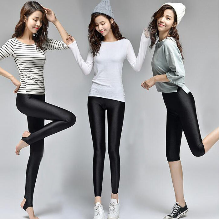 S-<font><b>4XL</b></font> New Spring Autumn 2019 Fashion Faux <font><b>Leather</b></font> <font><b>Sexy</b></font> Thin Black Leggings Calzas Mujer Leggins Leggings Stretchy Plus Size <font><b>4XL</b></font> image