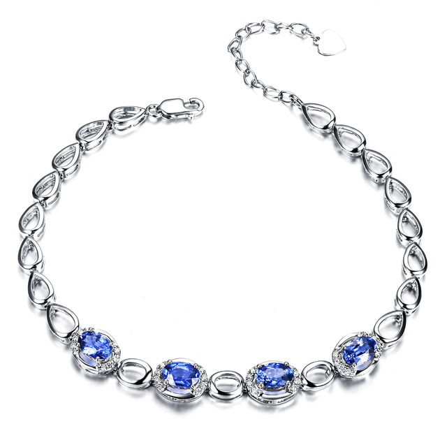 ZOCAI brand ZODIAC Blue mood 18K white gold 2.0 ct sapphire 0.15 ct diamond bracelet fine jewelry 18K rose gold avaible S00514
