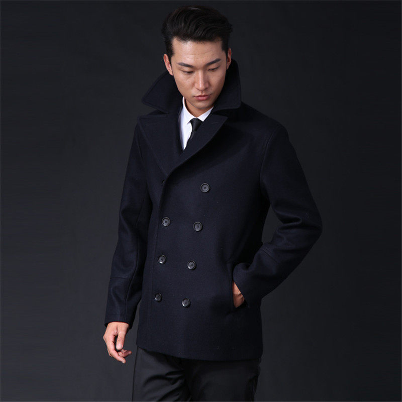 2c309bccae41 Online Shop Tailor-made Winter Wool long coat men Army green Thick ...