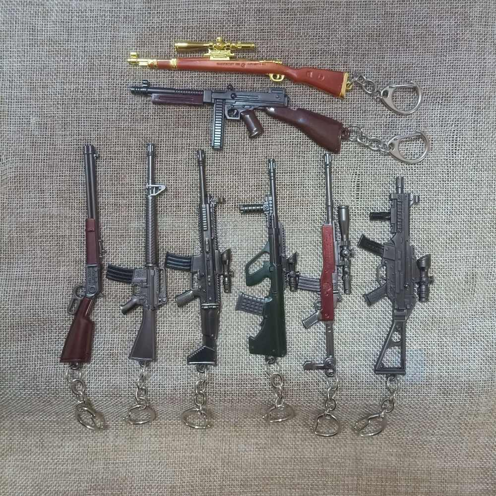 Jogo pubg chaveiro awm 98 k pan todos rifle modelo playerunknown s battlegrounds cosplay adereços liga armadura chaveiro llaveros ke