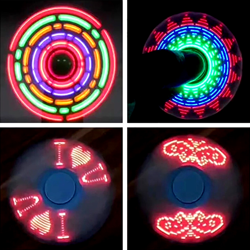 New night toy Multi-styling colorful Luminous Fidget Spinner Stress Relief Toy Children's novelty toy kids LED toy edc novelty stress relief toy fidget magic cube