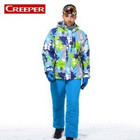 Mens Winter Ski Suit Snowboard Jacket Pants High Quality Thermal Waterproof Climbing Camping Coat Hooded Camouflage