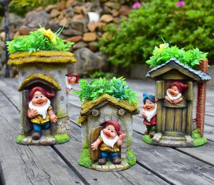 Elf Dwarf Flower Cylinder Decoration (6)