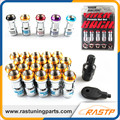 RASTP - 20 Pcs/pack Volk RAYS Racing Formula Nut Set Wheel Lug Nut M12x1.5 or M12x1.25 L=45mm  LS-LN001