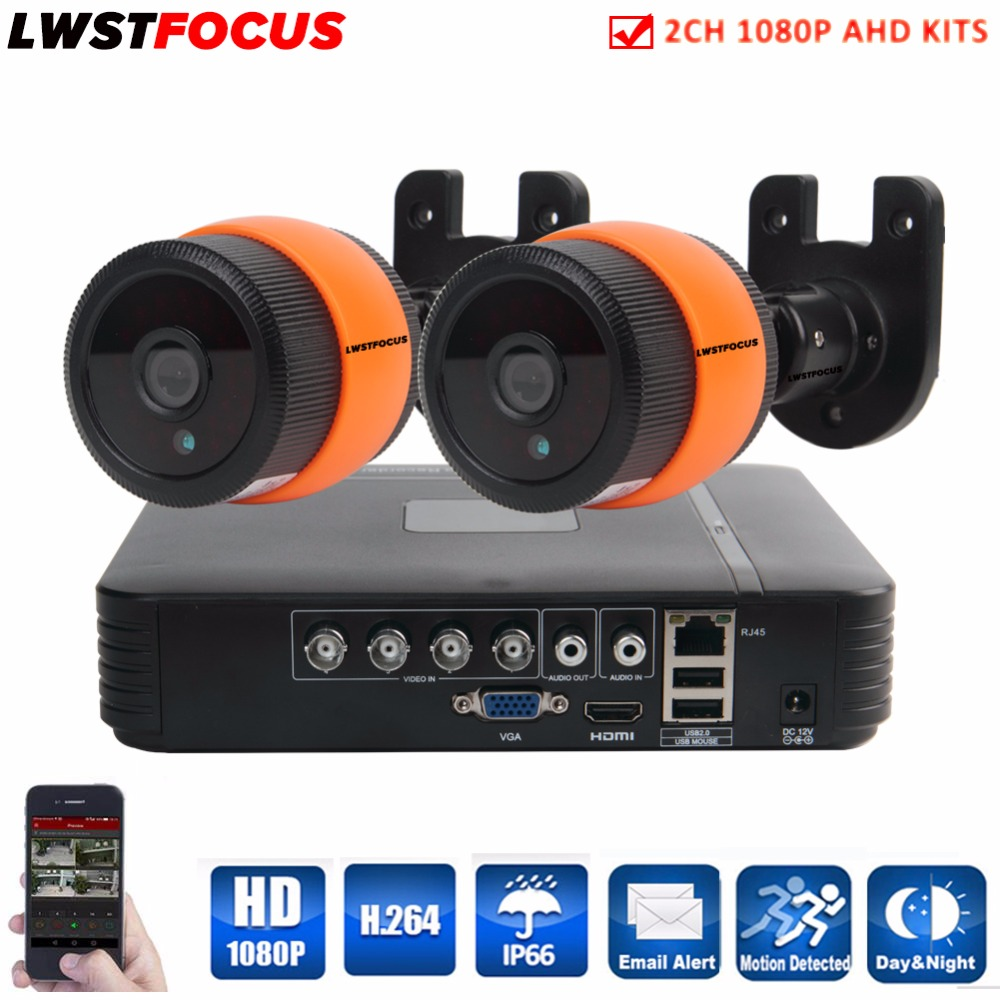 LWSTFOCUS 4CH 1080N HDMI DVR 3000TVL 1080P HD Outdoor Surveillance Security Camera System 4 Channel CCTV