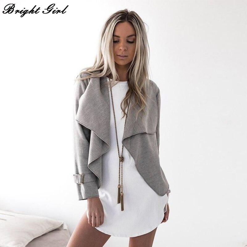 BRIGHT GIRL Bomber   Jacket   Women Long Sleeve   Basic     Jacket   Fashion Casual Plus Size Autumn Female   Jacket   Coat 2017 New