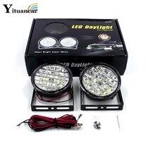 High Power 2Pcs/Set 18 Led DC12V 18W DRL Daytime Running Light E4 Auto Fog Lamp Car Source White