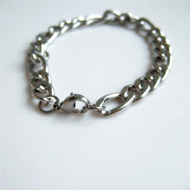 93af960a6ab 1 pcNew chegada estilo Punk presentes mens jóias de aço inoxidável pulseiras  cadeia de acessórios de moda clássico mão masculina