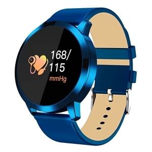 Image 2 - Nouveau Q8 OLED Bluetooth montre intelligente en acier inoxydable étanche appareil portable Smartwatch montre bracelet hommes femmes Fitness Tracker
