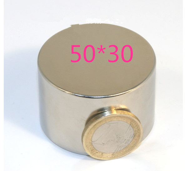 1PC N35 50mm x 30mm Big neodymium magnet super strong magnets ndfeb neodimio imanes holds 85kg free shipping 50 30 1pc strong neodymium magnet n52 50mm x 30mm powerful neodimio super magnets imanes free shipping