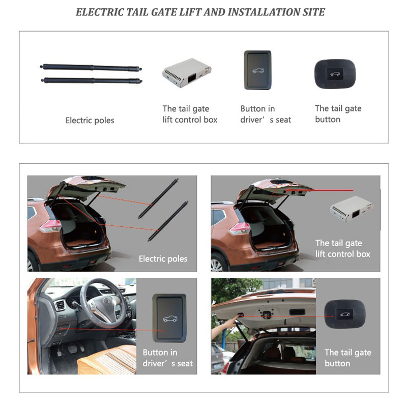 Car Electric Tail gate lift special for Volkswagen VW Touran 2016 Easily for You to Control Trunk with Latch in Trunk Lids Parts from Automobiles Motorcycles