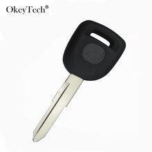 Okeytech acessórios do carro transponder chave do carro escudo fob para mazda m3 m5 m6 rx8 cx7 cx9 substituição caso capa sem corte em branco lâmina