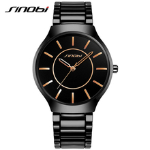 Sinobi homens relógio de pulso de aço inoxidável relógios homens de luxo da marca à prova d' água esportes genebra relógio de quartzo montres hommes 2017 k66