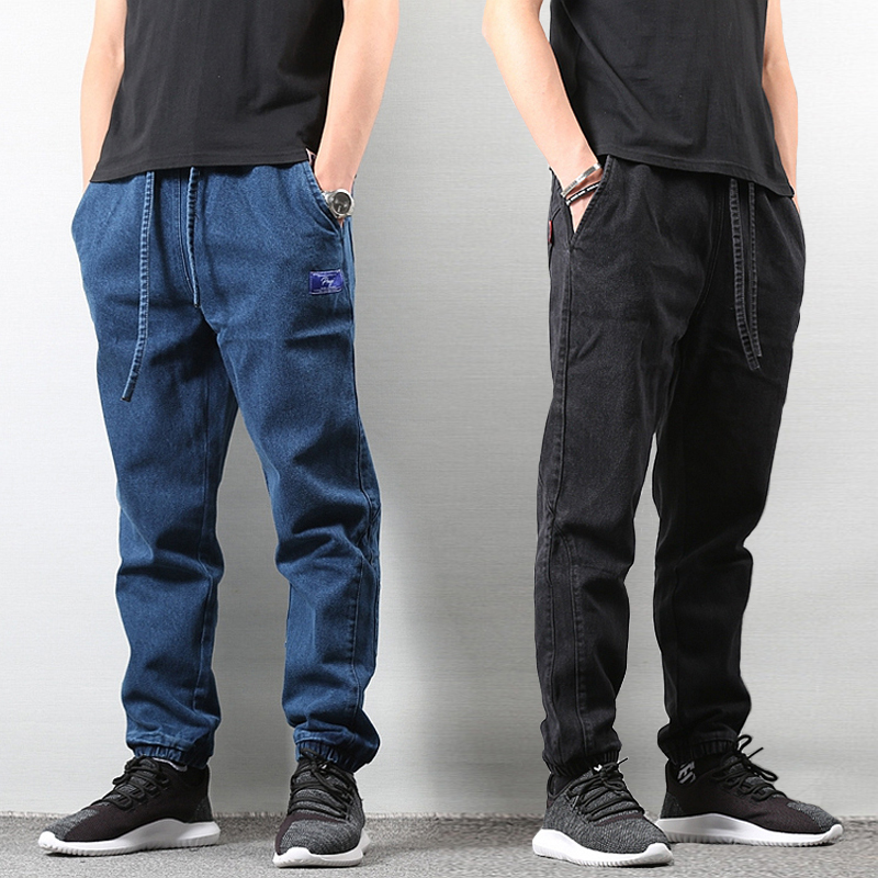 Japanese Style Fashion Men Jeans Loose Fit Blue Color Classical Denim Pants Hombre American Streetwear Hip Hop Joggers Jeans Men