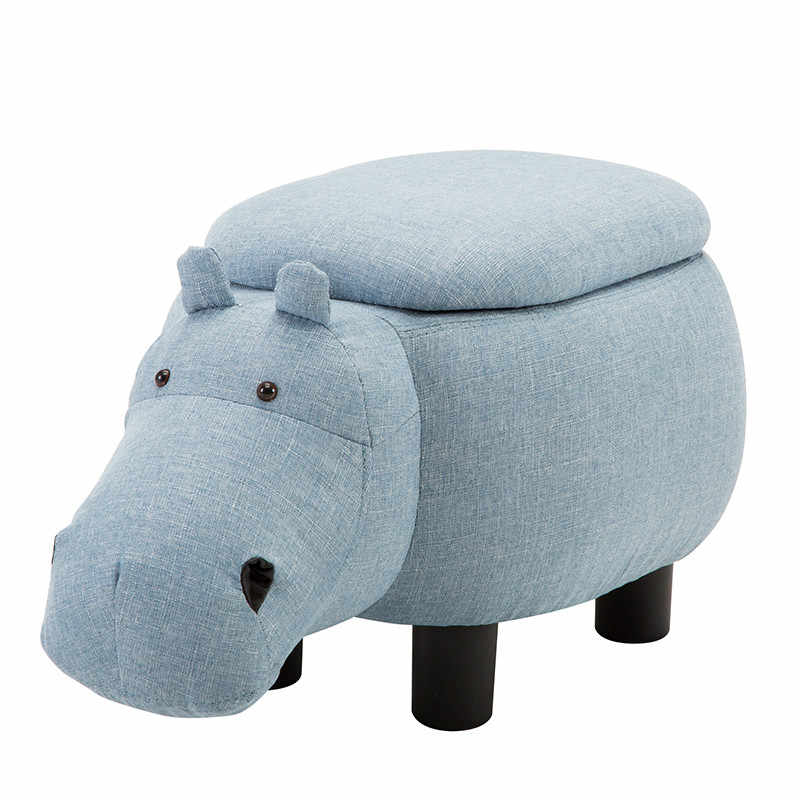 Tremendous Childrens Animal Chair Creative Hippo Shoe Stool Storage Living Room Sofa Feet Stool Small Bench Deck Chair Squirreltailoven Fun Painted Chair Ideas Images Squirreltailovenorg
