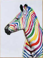 3 قطعة شحن مجاني حار بيع الحديثة النفط اللوحة زيبرا الحيوان ديكور المنزل عالية الجودة الفن لوحة فنيّة الفن قماش