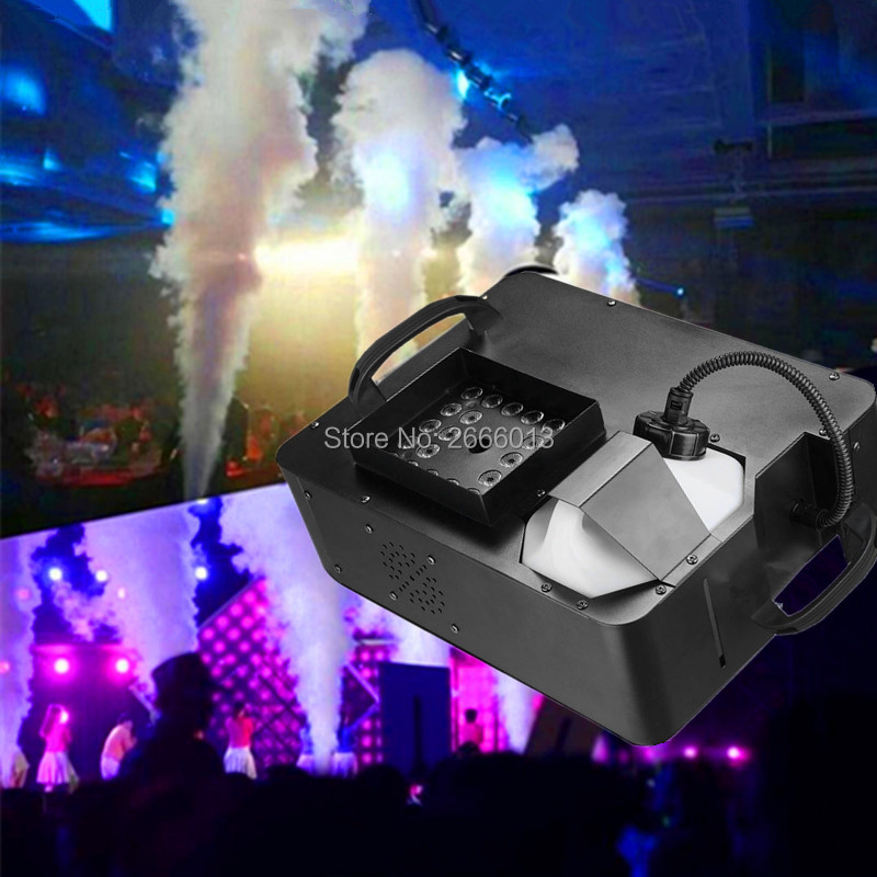 1500W with RGB 3IN1 LED Lights LED Fog Machine,Wireless and DMX512 ControlPyro Vertical Smoke Machine/Professional stage Fogger