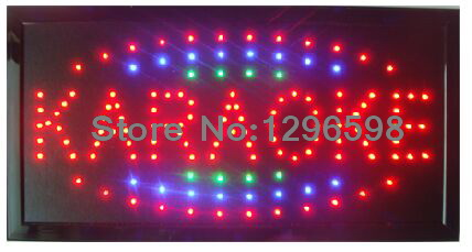 2017 New Led karaoke sign new coming 10X19 inch indoor Ultra Bright flashing customed karaoke store Led sign