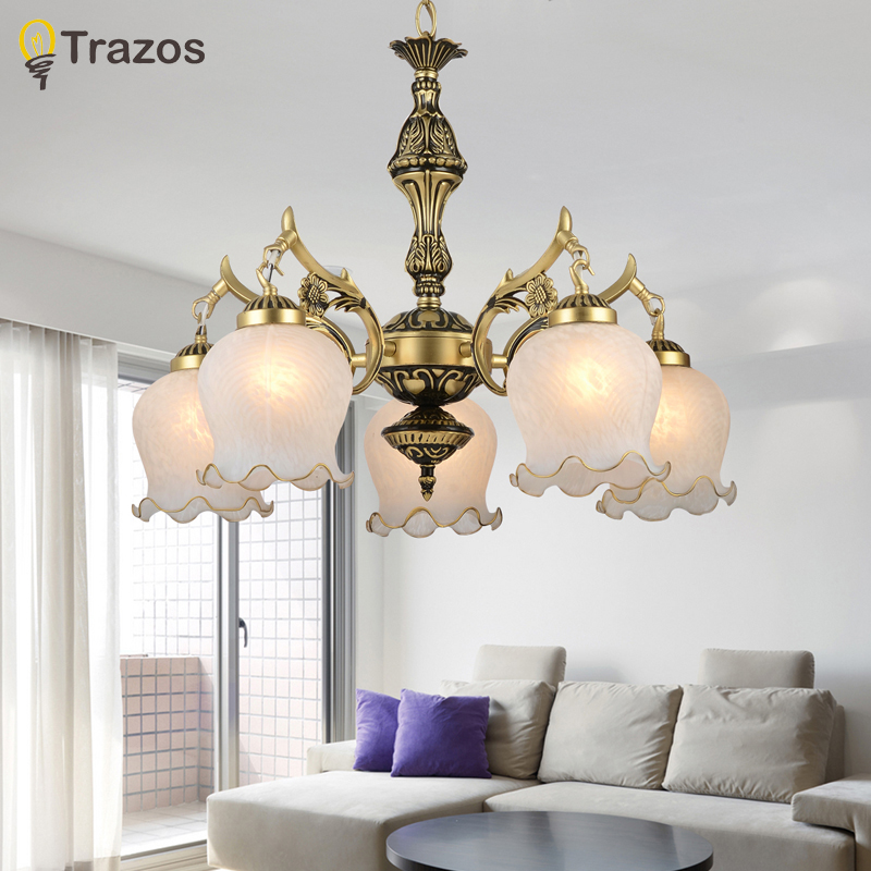 2017 New Hot Genuine Zinc Vintage Bedroom Lamp Led Chandelier Lights Top Novelty Indoor Wedding Decoration Kitchen Light