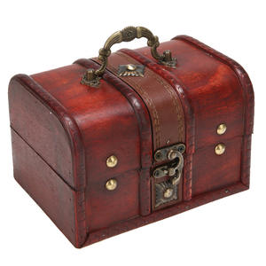 Mayitr Storage-Box Crate Treasure Chest Wooden Small Vintage Jewelry Household Big