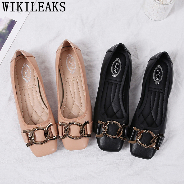 brand designer shoes women luxury 2019 harajuku Chain flat shoes women tenis feminino casual slip on shoes for women creepers