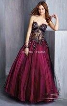 2016 schatz Ballkleid Prom Kleider Applique Pailletten Bodenlangen Abendkleid Durchsichtig Formale Abendkleider Pageant
