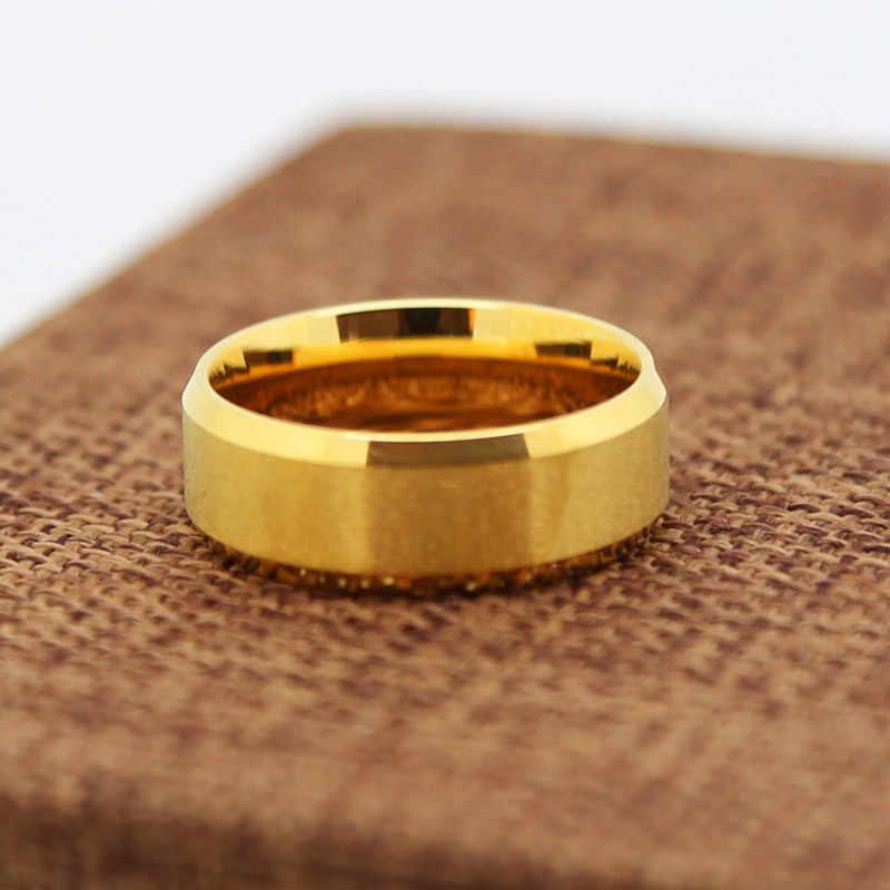 JHNBY chất lượng Cao Gold-vòng màu vintage cổ điển lovers 'nhẫn cho nam giới phụ nữ bague quà tặng Valentine đồ trang sức trang sức new