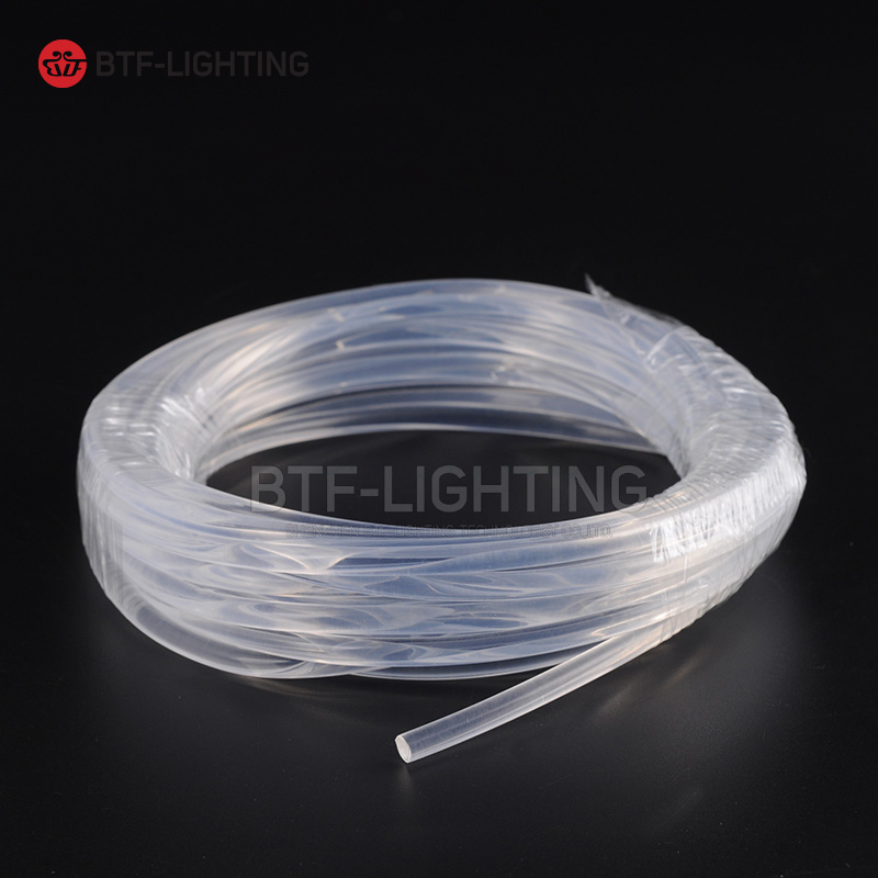 Wholesale 100m/roll 6.0mm Side Glow PMMA LED Fiber Optic Cable for Car Outline decoration Lighting