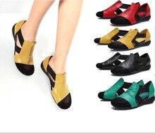 2016 women sandals flat heel rhinestone cutout elevator colorant summer casual shoes plus size women's shoes