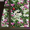 45 100cm Hsxuan Brand Privacy Bathroom Glass Sticker Rose Oil Painting 3D Stained Glass Art Window