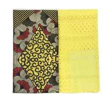 25 ярдов хлопковая шелковая кружевная ткань с Африканским принтом