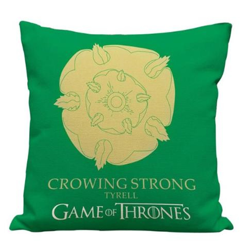 1 pcs Pillow Cover Game of Thrones House Sigils Family Crest Pillow Case Cover vintage style pillowcases for Home in Pillow Case from Home Garden