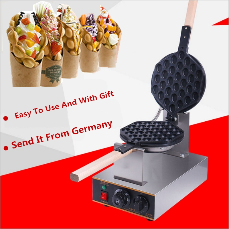 Wholesale Electric Egg Bubble Waffle Maker Machine Commercial Eggettes Puff Cake Iron Maker Machine commercial snack machine automatic electric round 4 egg cake waffle maker waffle cone maker