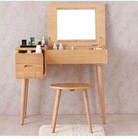 Solid wood dresser. Make up tank. The bedroom receive ark multi function makeup stage