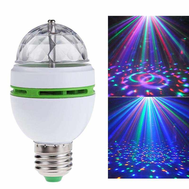 Baby Light Toys White and Green LED Stage Lamp Decoration RGB Rotating Bulb Colorful Pattern Lamp KTV/Ballroom/Bar Glowing Toy 2