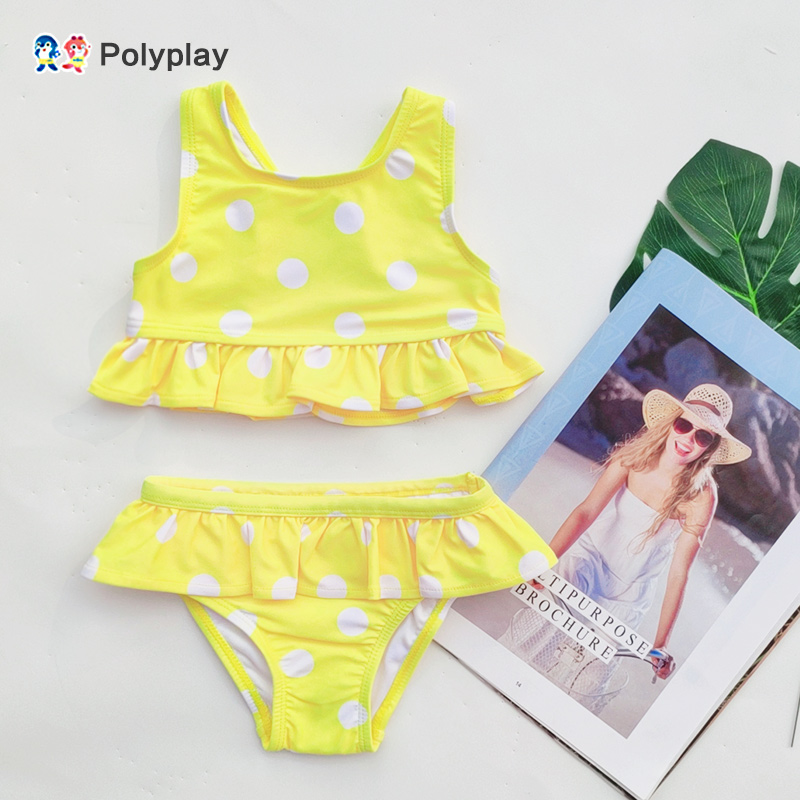 New Children's Swimsuit Girls Split Swimsuit Little Girl Summer Swimsuit 2 Sets