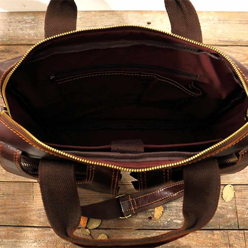 AETOO bolsa de computador negócio Pasta dos homens de couro Genuíno do vintage sacos de moda mensageiro homem bolsa de ombro Bolsa carteiro masculina