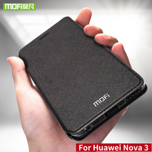 For Huawei Nova 3 case for Huawei Nova 3 case cover silicone nova3 flip leather Mofi for Huawei Nova 3 case 360 shockproof metal