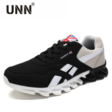 UNN Men Casual Shoes Spring Autumn Breathable Mens Shoes Fashion Shoes Lace up British Style Patchwork Leather Shoes