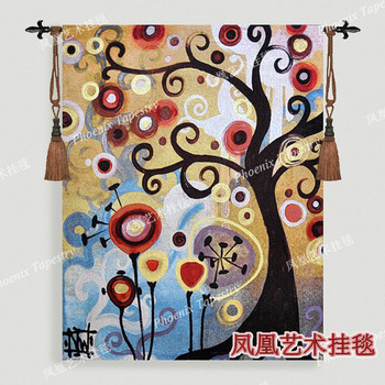 New European classical June tree Beautiful wall hangings tapestry 139*108cm Woven cotton fabric Home textile products H163