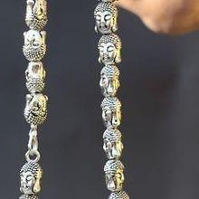Благородство удача женские ювелирные изделия Chineae тибетский серебряный резной молитва Будды ожерелье из бисера серебряный крючок серебряные ювелирные изделия