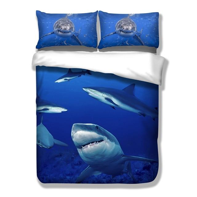 Underwater world Shark Bedding Set Twin Full Queen King AU ...