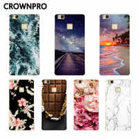 CROWNPRO para Huawei P9 Lite funda de silicona para Huawei P9 Lite funda protectora de teléfono suave para Huawei P9lite 2016 cubierta trasera TPU 5,2