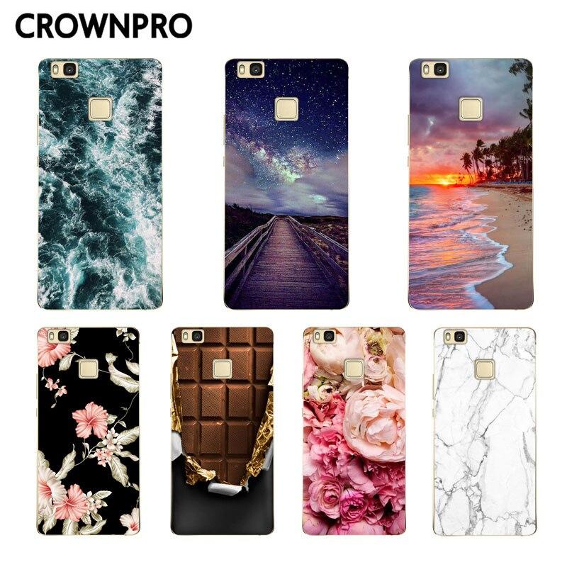 CROWNPRO pour Huawei P9 Lite coque Silicone pour Huawei P9 Lite protecteur coque de téléphone souple pour Huawei P9lite 2016 couverture arrière TPU 5.2