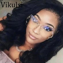 2017 Fashion Vintage Rimless Sunglasses Women High Quality G
