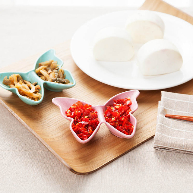 Butterfly Shape Plate Sauces Plate Snacks Dish Storage Food Snack Dishes  Dinnerware