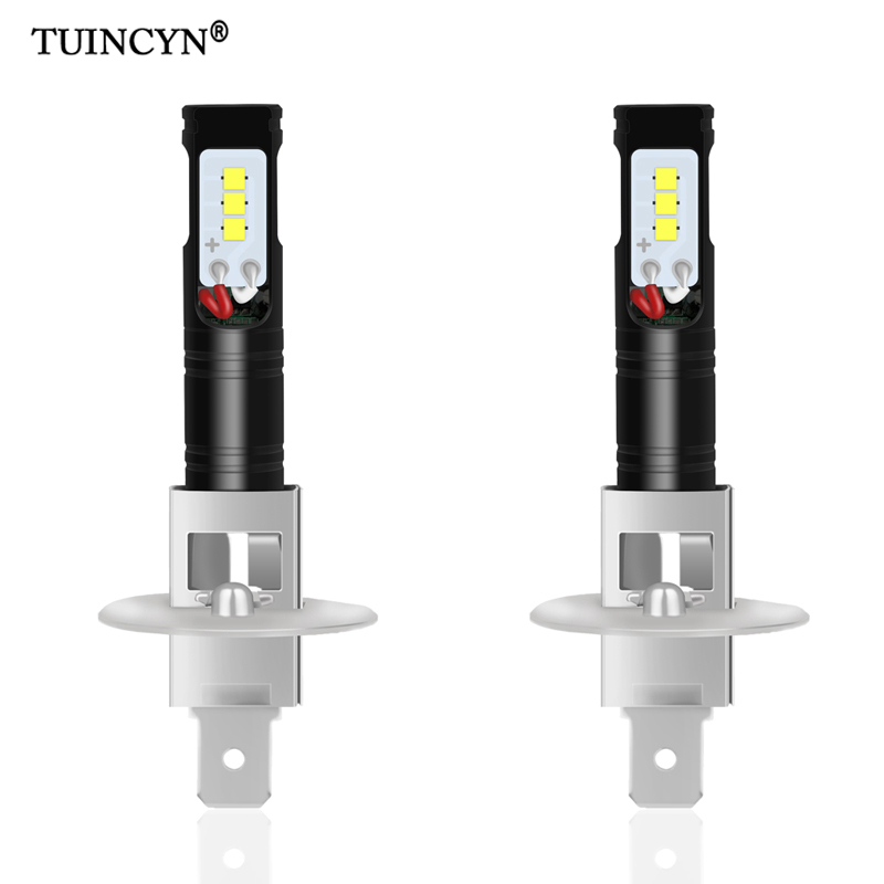 TUINCYN 2pcs H1 Led Bulbs for Cars CSP LED Chips Bulb Auto Led Light Fog font