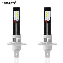 TUINCYN 2 шт. H1 светодио дный лампы для автомобилей CSP светодио дный чипсы лампы Авто светодио дный противотуманные лампы Супер яркий Авто ходовые огни 6500 К белый DC12V