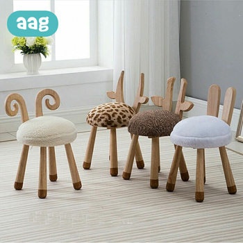 AAG Baby Chair Modern Design Soft Solid Wooden Seat Animal Design Child Kid Wood Chair Sofa Kids Cute Lovely Best Gifts