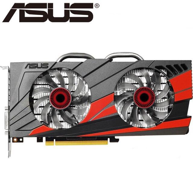 ASUS Placa De Vídeo GTX 960 gb 128Bit 2 GDDR5 Placas Gráficas para nVIDIA VGA Cartões GTX960 HDMI Geforce GTX 750 ti 950 1050 1060 Usado